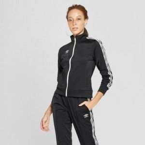 Womens Full Zip Track Jacket Black Sizes S, M or L